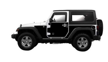 Jeep Wraps Magnetic Armor Kit by MEK Magnet ('07-'18 Jeep Wrangler JK 2 Door)