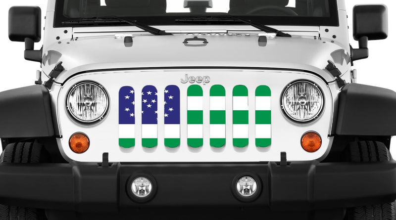 """NYPD"" Grille Insert by Dirty Acres ('76 - '18 Wrangler CJ, YJ, TJ, JK, JKU) - Jeep World"