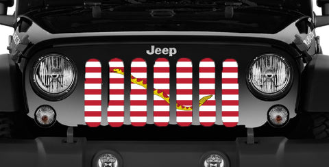"""Navy Jack"" Grille Insert by Dirty Acres (Wrangler, Gladiator, Renegade, G.Cherokee)"