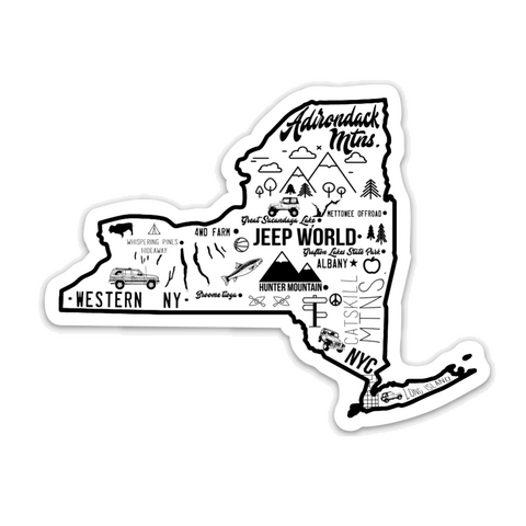 "New York Jeep World 4""x4"" Vinyl Sticker"