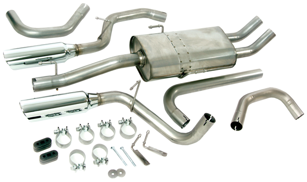 Single Rear Exit Exhaust System by Mopar ('07-'09 Compass MK49 & Patriot MK)