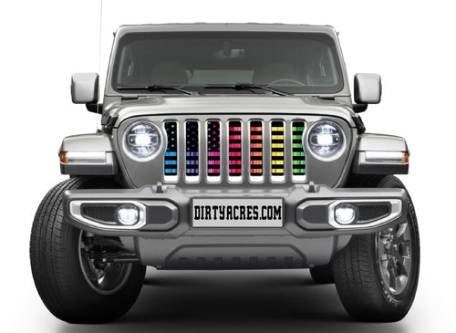 """Pride American Flag"" Grille Insert by Dirty Acres"