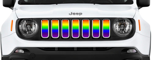 """Ombre Pride Flag"" Grille Insert by Dirty Acres"