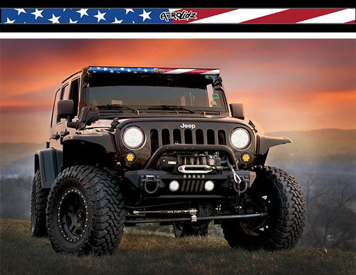Aerolidz US Flag Light Bar Insert by Aerox Industries (Universal)