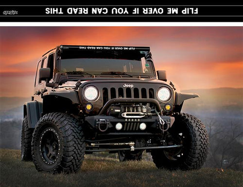 """Flip Me Over If You Can Read This"" Light Bar Insert by Aerox Industries (Universal)"