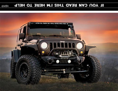 """If You Can Read This, I'm Here To Help"" Light Bar Insert by Aerox Industries (Universal)"