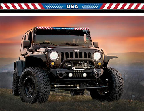 USA Stars and Stripes Light Bar Insert by Aerox Industries (Universal)