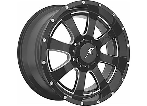 5150 Gloss Black Wheel 5x5 Bolt Pattern, 20x9 by Raptor Series ('07-'18 Wrangler JK)