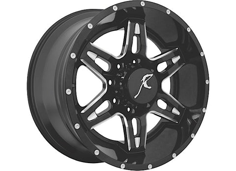 505 Reckless Driving Wheel, 5x5 Bolt Pattern, 20x9, Black by Raptor Series ('07-'18 Wrangler JK)