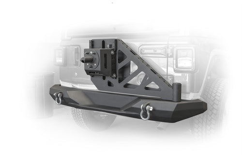 Rear Bumper and Swing Away Tire Carrier by DV8 Offroad (18+ Wrangler JL)