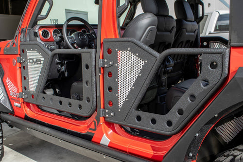 Rock Door W/ Perforated Aluminum Mesh 4 Door by DV8 Offroad (18+ Wrangler JL)