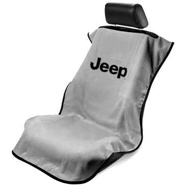 Jeep Seat Towel Gray with Jeep Logo (Universal)