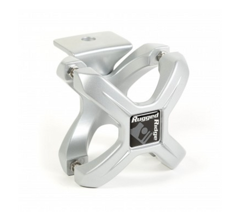 X-Clamp, Silver, 2.25-3 Inches by Rugged Ridge (All Wrangler Models)