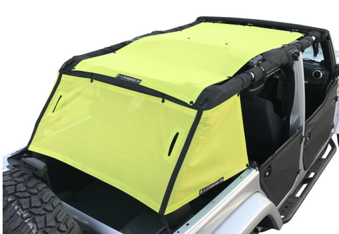 JKU Cage & Top Sunshade, Various Colors by Alien Sunshade ('07-'18 Wrangler JKU 4 Door)