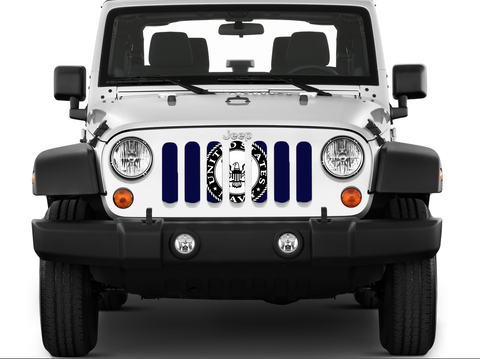 """U.S. Navy Flag"" Grille Insert by Dirty Acres (Wrangler, Gladiator, Renegade, G.Cherokee)"