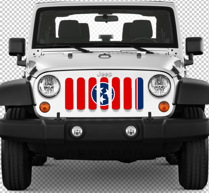 """Tennessee State Flag"" Grille Insert by Dirty Acres ('76 - '18 Wrangler CJ, YJ, TJ, JK, JKU) - Jeep World"