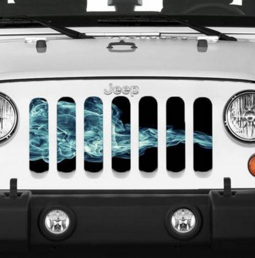 """Blue Smoke"" Grille Insert by Dirty Acres"