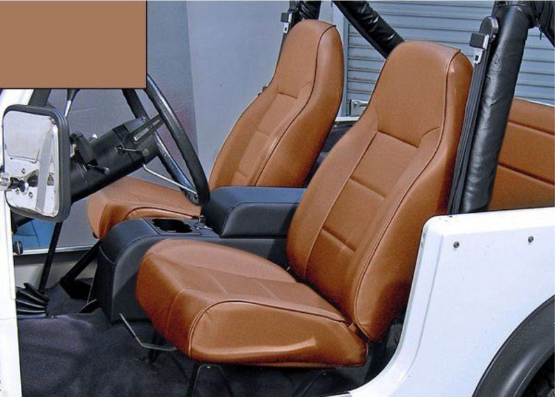 High-Back Front Seat, No-Recline, Nutmeg by Rugged Ridge ('76-'02 Jeep Wrangler CJ, YJ, TJ)