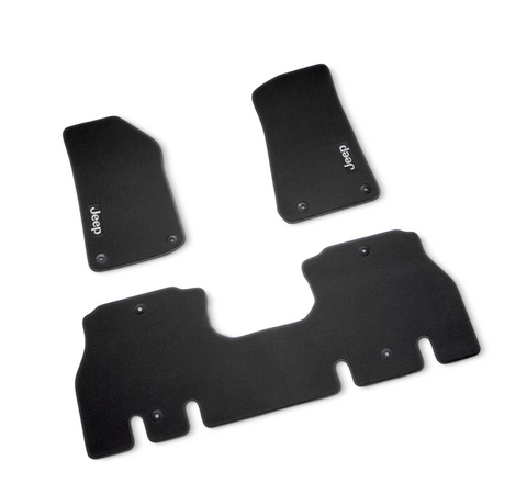 Premium Carpet Mat Set, Black by Mopar ('19 Wrangler JLU 4-Door)