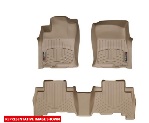 Digital Fit Floor Mats, Front & Rear, Tan by WeatherTech ('19 Wrangler JLU)