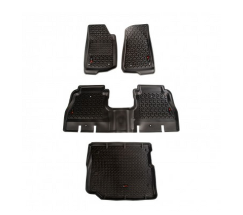 All Terrain Floor Liner Set by Rugged Ridge ('18 Wrangler JLU 4 Door)