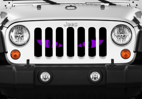 """Purple Chaos Eyes"" Grille Insert From Dirty Acres ('76 - '19 Wrangler CJ, YJ, TJ, JK, JL, '20 Gladiator JT)"