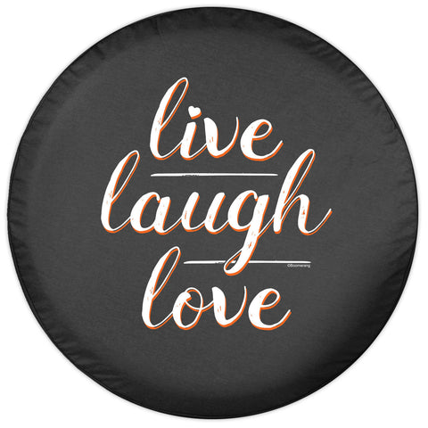 Colortek Live, Laugh, Love Soft Tire Cover (Liberty KJ, Wrangler CJ, YJ, TJ, & JK)