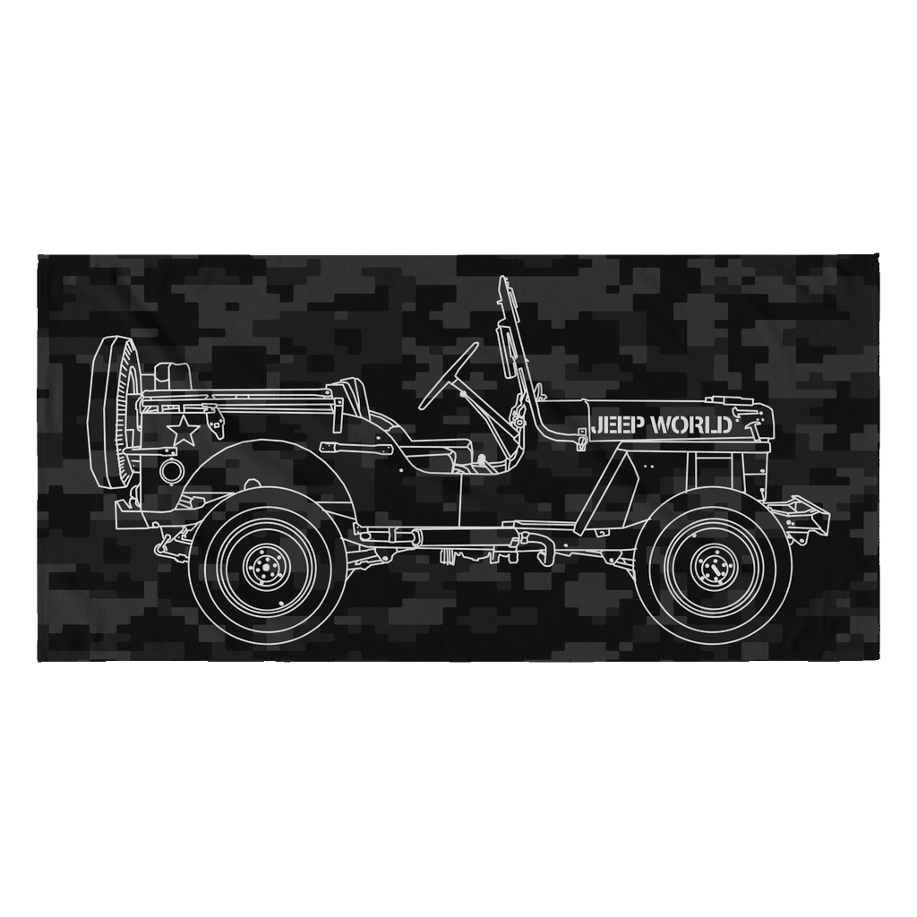 Jeep World Willy's Stealth Beach Towel