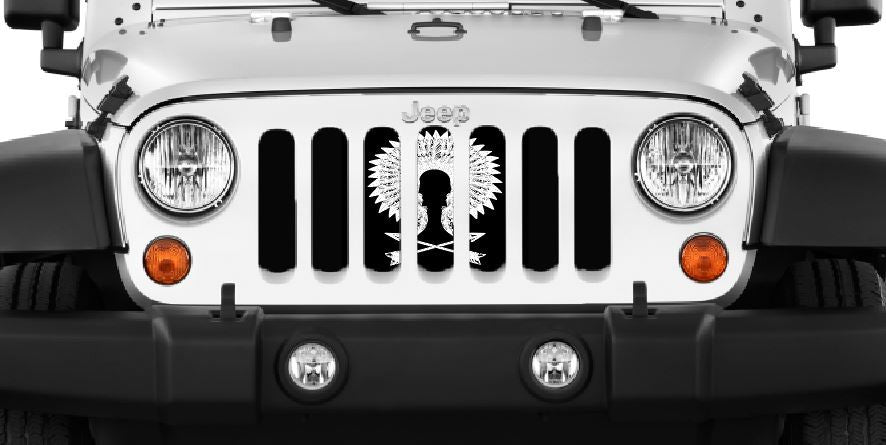 """War Bonnet"" Grille Insert by Dirty Acres ('76 - '18 Wrangler CJ, YJ, TJ, JK, JKU) - Jeep World"