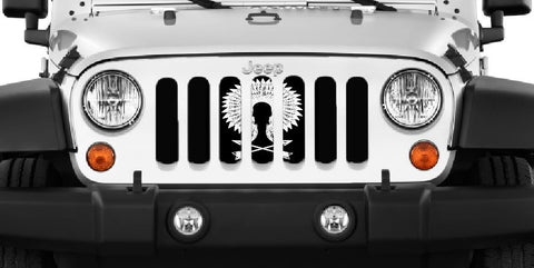 """War Bonnet"" Grille Insert by Dirty Acres ('76 - '19 Wrangler CJ, YJ, TJ, JK, JL)"