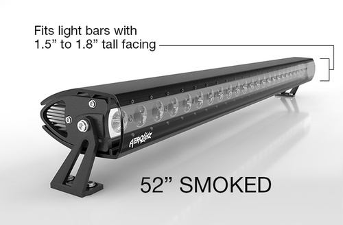 "AeroLidz Light Bar Cover, 50"" / 52"" Single Row in Clear by Aerox Industries (Universal)"