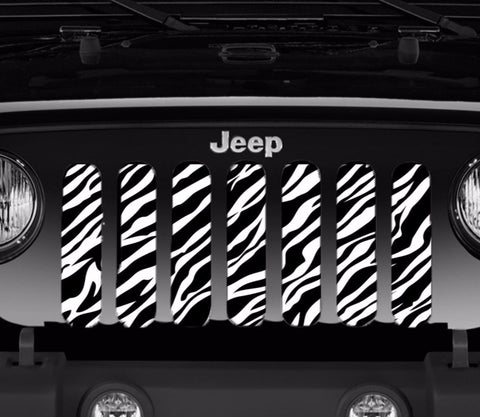 """Zebra"" Grille Insert by Dirty Acres ('76 - '19 Wrangler CJ, YJ, TJ, LJ, JK, JL)"