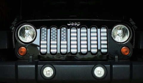 """American Tactical"" Grille Insert by Dirty Acres ('76 - '17 Wrangler CJ, YJ, TJ, JK, JKU)"