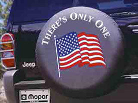 Mopar Jeep American Flag Tire Cover (Liberty KJ, Wrangler CJ, YJ, TJ, & JK)