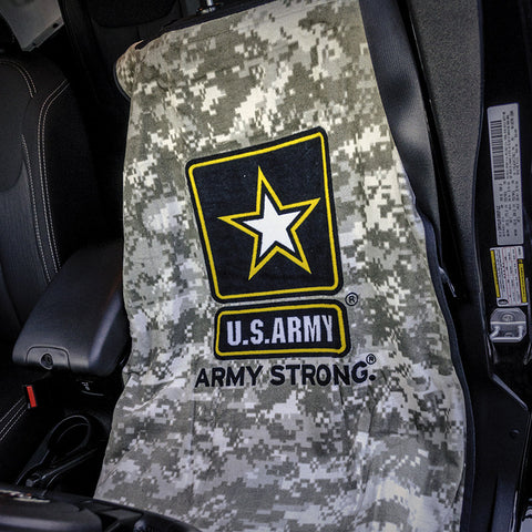 Jeep Seat Towel Digital Camo with US Army Logo