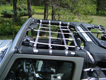 Front Overhead Cargo Net by Aspen Manufacturing ('04 - '06 LJ) - Jeep World