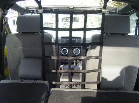 Front Barrier Net for 4 Door Wranglers by Aspen Manufacturing('07 - '18 Wrangler JK) - Jeep World
