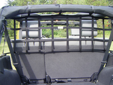 Rear Barrier Net for 4-Door Wranglers by Aspen Manufacturing ('07 - '18 Wrangler JK) - Jeep World