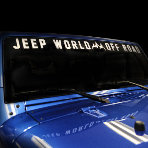 Jeep World Off Road Windshield Banner