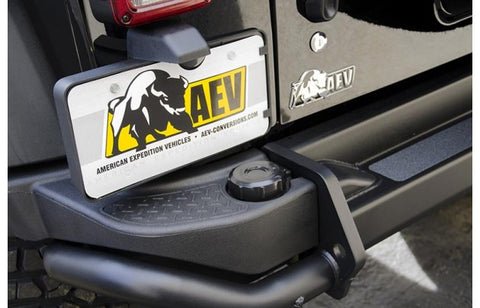 AEV Rear Bumper Replacement Black Cap ('07-'18 Wrangler JK)
