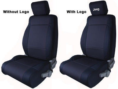 CoverKing Seat Cover, Front, Solid Black, No Logo, 4 Door ('07-'10 Wrangler JK)