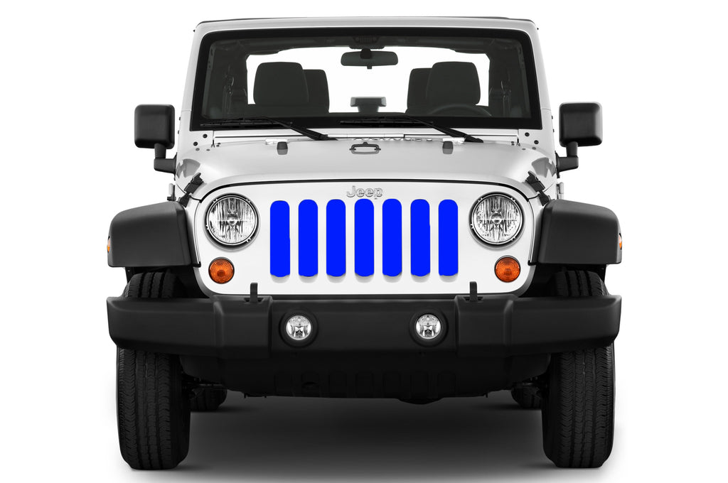 Jeep grille insert - blue