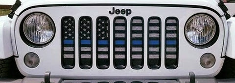 """Back the Blue"" Grille Insert by Dirty Acres ('76 - '19 Wrangler CJ, YJ, TJ, JK, JL)"