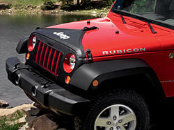 Front End Cover, Black, with Jeep logo, with or without license plate for Wrangler 2007-2016 Rubicon, Sahara, X - Jeep World