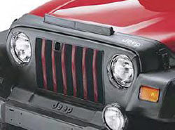 Front End Cover, Black, with Jeep Logo with Black Wheel Flares ('97-'06 Wrangler TJ Unlimited, SE, Sport, X)