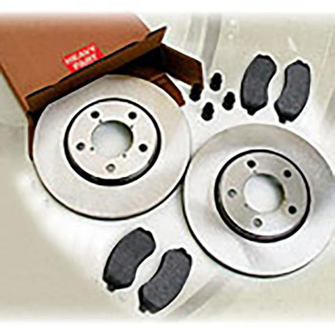 Front Brake Kit, Rotors and Pads, Akabeno  Silver Caliper-VWJA3183AC (99-02 Grand Cherokee WJ)