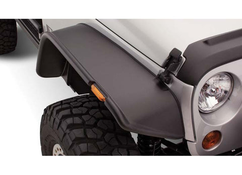Flat Style Fender Flares, Set of 4, Black by Bushwacker ('07-'18 Wrangler JK 2 Door)