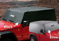 Mopar Jeep Silver Heat Reflective Cab Cover with Jeep Logo 2 Door ('07-'18 Wrangler JK)