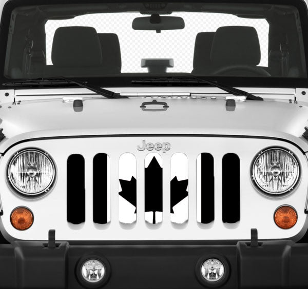 Jeep grille insert - Canada - black and white