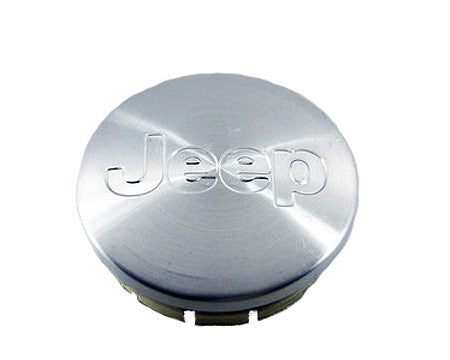 "Mopar Wheel Center Cap, Silver with Jeep Logo, for 18"" Wheels with 5x5 Bolt Pattern ('07-'18 Wrangler JK)"